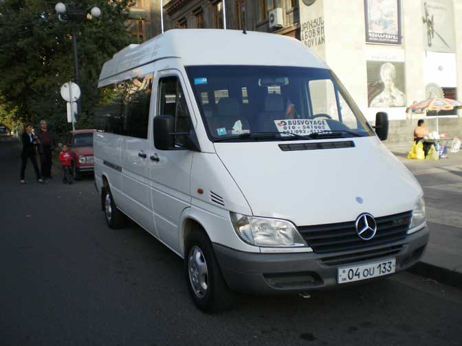 rental of buses minibuses in armenia bus mercedes sprinter 313 cdi. Black Bedroom Furniture Sets. Home Design Ideas